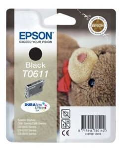 Cartouche originale Epson ''T061140'' noir - Ourson Série