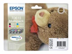Cartouches originales Epson T061540 - Pack couleur + noir