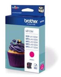 Cartouche originale Brother 'LC123M' - Magenta