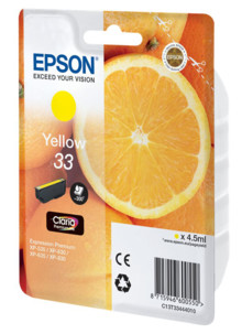 Cartouche originale Epson N°33 Orange Série - Jaune