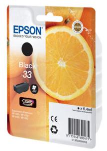 Cartouche originale Epson N°33 Orange Série - Noir