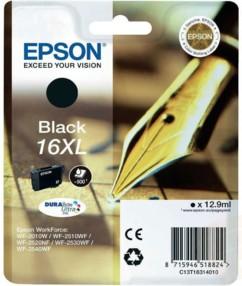 Cartouche originale Epson N°16  Stylo plume XL T163140 - Noir