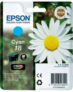 Cartouche originale Epson ''T180240'' N°18 Pâquerette cyan