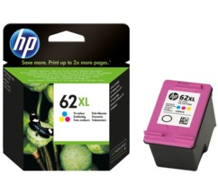 cartouche originale hp 62xl couleur cyan magenta jaune C2P07AE officejet envy