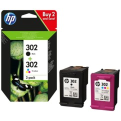 Cartouches originales HP N°302 F6U67A - Pack