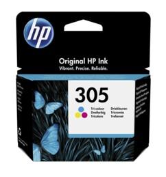 Pack avec cartouche originale 3 couleurs HP N°305 3YM60AE.