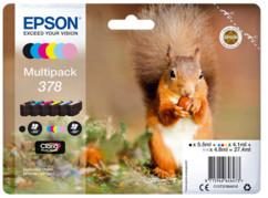 pack de cartouches d'encre originales epson 378 multipack ecureuil pour imprimante xp-8500