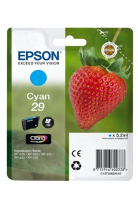 cartouche originale epson 29 fraise strawberry cyan