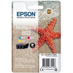 Pack de cartouches originales Epson série 603 CMY.