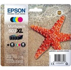Pack de cartouches originales Epson série 603 XL CMJN.