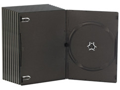 10 boîtiers DVD slim (7 mm) noirs pour 1 DVD