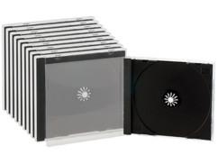 10 Boîtiers range-CD double - Noir