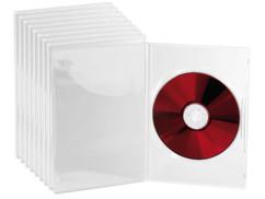 10 jaquettes DVD slim (7 mm) transparent pour un DVD