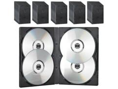 50 boîtiers DVD - 4 DVD - Noirs