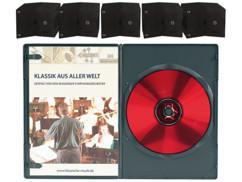 50 boîtiers DVD slim (7 mm) noirs pour 1 DVD
