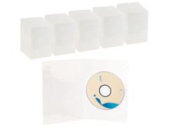 50 jaquettes DVD slim (7 mm) transparent pour un DVD