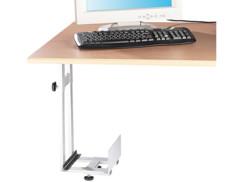 support pour tour PC toutes marques réglable jusqu'à 25 cm de largeur couleur gris aluminium