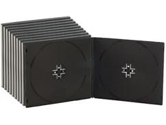 10 Boîtiers range-CD doubles ultra-fins 7mm - noirs