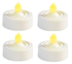 Lot de 4 bougies ''chauffe-plat'' à LED