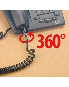 Système anti-enroulement pour câble de téléphone
