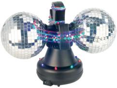Boule à facettes motorisée avec LED multicolores - Version double