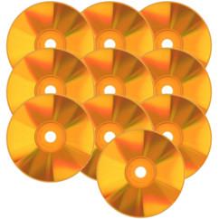 CD-R de couleur orange  X 10