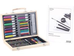 Coffret de dessin/peinture 67 pièces, avec cahier 30 pages 80g/m²