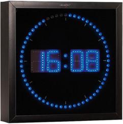 Horloge digitale murale avec 60 LED - Bleu