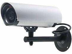 Caméra factice à LED en aluminium