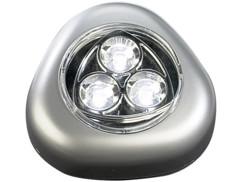 Lampe mobile à LED ''Stick & Push'' - Argent