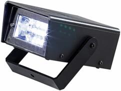 Stroboscope LED sans fil avec support de montage orientable par Lunartec