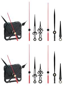2 mécanismes d'horloge silencieux avec 3 sets d'aiguilles