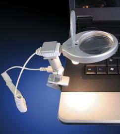 Mini lampe loupe USB