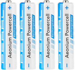 4 accus AAA hybrides Aeonium NiMH - 800 mAh