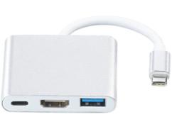 hub usb type C avec ports USB A USB C et HDMI femelle Callstel PX1929