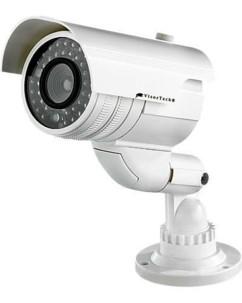 Caméra de surveillance professionnelle factice à LED
