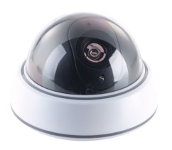 camera dome factice visortech avec led rouge clignotante