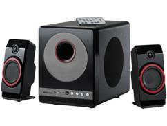 Haut-parleurs premium 2.1 ''MSX-380.M'' avec lecteur MP3