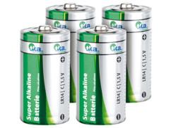 Lot de 4 piles alcalines Baby 1,5 V type C