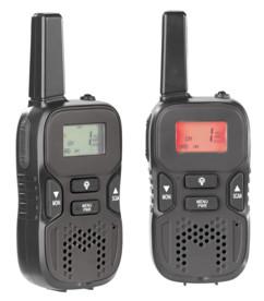 talkie walkie wt-505 moyenne portée 5 km pour sécurité et chantier Simvalley double surveillance