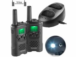 2 talkies-walkies avec fonctions Push-to-Talk et VOX WT-330
