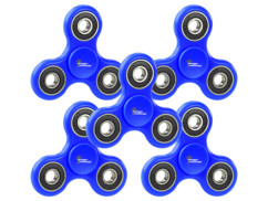 5 Hand spinners 3 branches ABEC 7 - Bleu