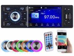Autoradio bluetooth 1 DIN avec écran couleur CAS-3445.BT