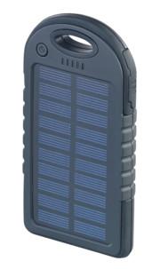 Batterie de secours solaire 4000 mAh avec 2 ports USB + mini lampe LED