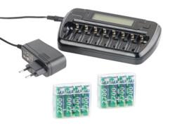 Chargeur AA/AAA avec minuteur de sécurité, Refresh & écran - 8 accus AA