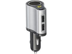 Chargeur allume-cigare 12/24 V / USB 3,1 A avec report de prise