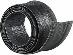 Gaine passe-câble noire - 1,8 M