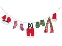 """Guirlande décorative """"corde à linge du Père Noël"""" 140 cm"""