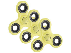 3 Hand spinners 3 branches - Phosphorescent (jaune)