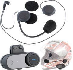 Micro-casque BHT-200 avec bluetooth pour casque moto